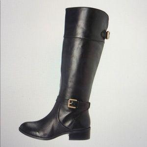 Ralph Lauren Black Melora Riding Boots Sz 7